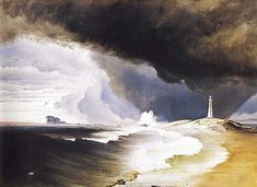 Peder Balke: Varda Lighthouse, 1860.
