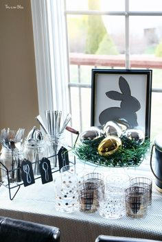 Spring tablescape | Easter Table | drink table