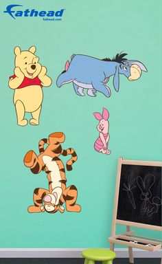 DIY Disney Home Decor | Imagine your child's face when you turn their room into The Hundred Acre Wood with this Winnie The Pooh Fathead! Each character is about 2-3 Feet Tall and there are fun extras included so you can decorate multiple rooms if you please. SHOP http://www.fathead.com/disney/winnie-the-pooh/winnie-the-pooh/ | DIY, Removable, Reusable, Easy to Apply, Peel & Stick | Boys + Girls Bedroom