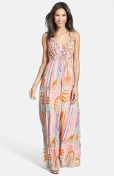 Jessica Simpson Beaded Print Maxi Dress (Nordstrom Exclusive)