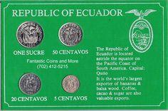 1946 - 1980 Republic Of Ecuador Four (4) Coin Mint Set http://www.ebay.com/itm/1946-1980-Republic-Of-Ecuador-Four-4-Coin-Mint-Set-/181577414268?ssPageName=STRK:MESE:IT