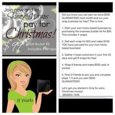 Christmas is coming ! Looking to make some money ! Get started with my team today email: mandanichole1@gmail.com website : http://awilkerson1.myitworks.com