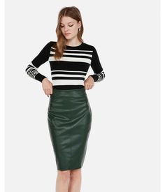 d673fc1591dd 9 Best Faux leather pencil skirt images in 2016 | Ladies fashion ...