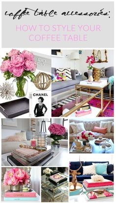 How to style your coffee table with simple steps!