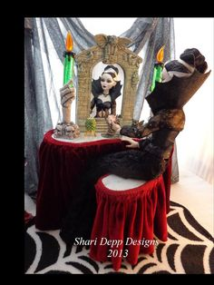One of a Kind  Gothic Gargoyle  Vanity Set for by ShariDeppDesigns, $199.00