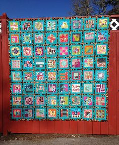 My finished Tula Pink, Trellis, City Sampler quilt top.