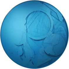 Turquoise circle, 2010, wood, glass, pigments, motor, diameter 155 cm