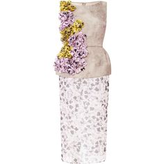 Giambattista Valli Embellished Floral-Print Silk Peplum Dress ($5,080) ❤ liked on Polyvore featuring dresses, giambattista valli, peplum dresses, pink peplum dress, pink floral dress, peplum cocktail dress and floral applique dress