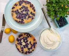 Lemon blueberry buttermilk cake + lemon cream cheese frosting | Sugar Geek Show Banana Bread Recipes, Cake Recipes, Dessert Recipes, Desserts, Cake Pan Sizes, Lemon Cream Cheese Frosting, Tall Cakes, Homemade Frosting, Chocolate Cream Cheese