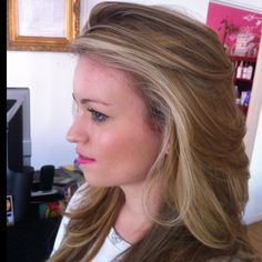 Beachy Balayage in the 619. Marin is ready for Spring!!! L'Oreal Ammonia Free Platinium Paste and INOA blending.