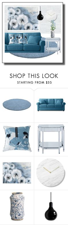 """dandelions"" by flora-chn ❤ liked on Polyvore featuring interior, interiors, interior design, home, home decor, interior decorating, Kensie, Sterling Industries and Mineheart"