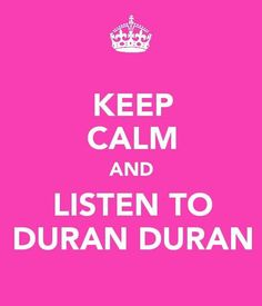 Totally Duran Duran! (since listening to prince will bum me out a little bit... it will pass though)