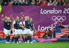 United States vs North Korea, Group G - Soccer Slideshows | Team USA during the July 31 women's soccer Group G match between the United States and North Korea. (Photo: US Presswire) #NBCOlympics