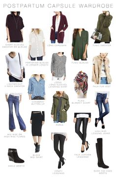 2015 Fall Capsule Wardrobe for post-baby. Keep this in mind for round #2. Would be great to stock some of these key pieces now so they're in the closet for (way) later!