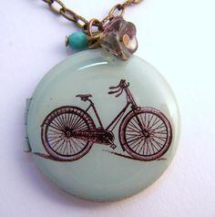 vintage bike locket