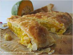 Pumpkin and chickpeas strudel