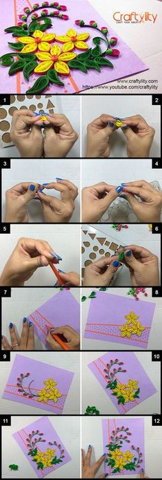 Find More such Beautiful Quilling Card instructions on our youtube channel and website.