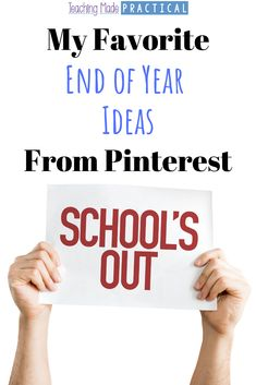 A collection of some fun end of year ideas for upper elementary students (3rd, 4th, and 5th grade students) from Pinterest.  Includes no prep activities, party ideas, graduation ideas, countdowns, and more to help you celebrate the last days of school with your students.  #endofyear #3rdgrade #4thgrade #5thgrade