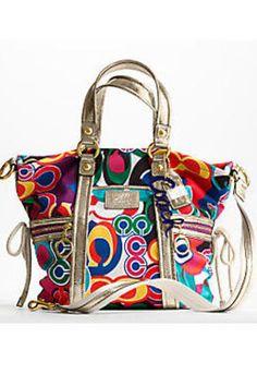 What a fun handbag! Authentic Coach Daisy Poppy C Print Pocket Tote Convertible Shoulder Messenger Crossbody Bag Coach Handbags, Coach Purses, Purses And Handbags, Boho Hippie, Bag Jeans, Cheap Coach Bags, Coach Outlet, Crossbody Bag, Tote Bag