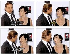 A little Fifty Shades Of Grey humor from Maggie to Charlie! Ha!