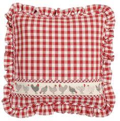 Cushion 40*40 check red. Cena: 400 Kc. Nakupujte na www.almara-shop.cz.