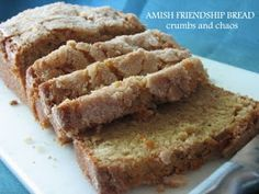 AMISH FRIENDSHIP BREAD...I have used this for years and have learned that you can make the starter and use it the same day you make it and there is little difference in the bread. Just add one cup to your recipe and follow directions for cake...