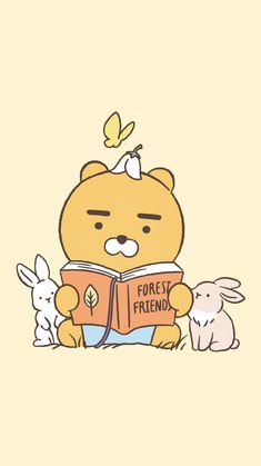 Kakao Ryan, Kakao Friends, Friends Wallpaper, Kawaii, Softies, Pretty Pictures, Aesthetic Wallpapers, Cartoon Characters, Book Lovers