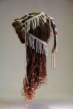 Mbukushu people. Botswana or Namibia. Woman's headdress