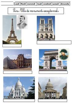 Paris parmi les grandes villes de France et les fleuves CE1 (+ monuments) | BLOG…
