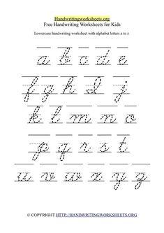 free cursive lowercase letter tracing worksheets pinterest alphabet tracing worksheets. Black Bedroom Furniture Sets. Home Design Ideas