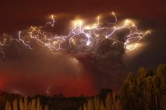The eruption of the Puyehue volcano in the Andes mountains of southern Chile