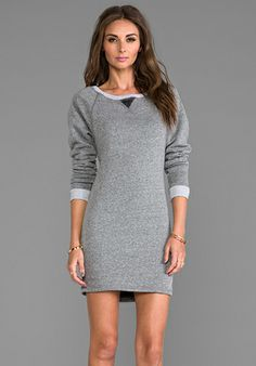 Comfy Comfy Princess: Feel the Piece The Shopper Sweatshirt Dress in Charcoal