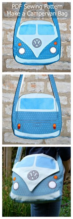 Make this fun Campervan bag by downloading this pdf sewing pattern.