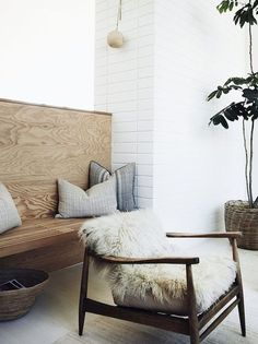 Neutral livingroom, great textures, natural fibers. Light Grey, light denim, sand, forest green, white, walnut, creme: