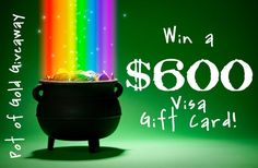 With Saint Patrick's day coming up, I am sure that more than one of us has thought about that pot of gold at the end of the rainbow. What could you do if you had your very own pot of gold?  Buy a new sofa?!  Shopping spree! (since the new year's resolution to lose the weight is in