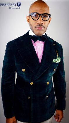fae4031235 This velvet jacket and bow tie is a attention grabber 🔥🔥 Dress Suits