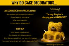Why do cake decorators lack confidence when pricing cakes? Find out here! #sugarcraft #baking