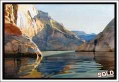 """Morning Shadow"" - Lake Powell Watercolor by David Drummond"