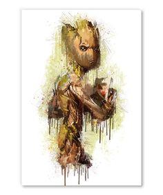 tableau-deco-les-gardiens-de-la-galaxy-groot-marvel-01 Star Wars Pop Art, Strange Marvel, Tableau Star Wars, Marvel Bedroom, Tableau Pop Art, Baby Groot, Fan Art, Sculpture Art, Comic Art
