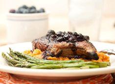 Pork Chops w/ Blueberry-Chipotle Sauce Recipe - RecipeChart.com