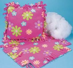 Birthday Party Activity...what a cute idea... let everyone make a little pillow.  So much better than junky treat bags nobody wants!