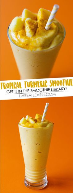 This healthy Tropical Turmeric Smoothie recipe is a tasty and healthy vegan breakfast to help you start your day the antioxidant-filled way! Perfect as a snack, drink, or meal on its own. Healthy Smoothies, Healthy Drinks, Smoothie Recipes, Healthy Foods, Healthy Breakfasts, Juice Recipes, Superfoods, Paleo Diet Menu, Turmeric Smoothie