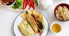 These speedy chicken crepes are an easy dinner option.