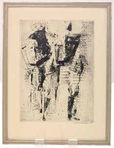 VINTAGE BIRGITTA LILJEBLADH ETCHING-SIGNED AND DATED 1950-FRAMED READY TO HANG-FREE POSTAGE WORLDWIDE