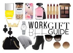 """""""Gift Guide - Work BFFs"""" by queenhailey667 ❤ liked on Polyvore featuring FREDS at Barneys New York, Karen Millen, Nails Inc., The North Face, Casetify, Longines, Tasha, Victoria's Secret, tarte and Bobbi Brown Cosmetics"""