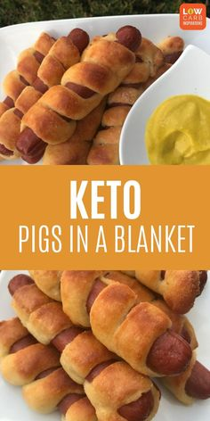 This keto pigs in a blanket recipe made with fat head dough is perfect for a weeknight meal or when you need to get dinner on the table in a hurry! It's really easy to make and tastes delicious t Low Carb Crockpot Chicken, Keto Chicken, Ketogenic Recipes, Low Carb Recipes, Diet Recipes, Fat Head Recipes, Soup Recipes, Keto Fat, Low Carb Keto