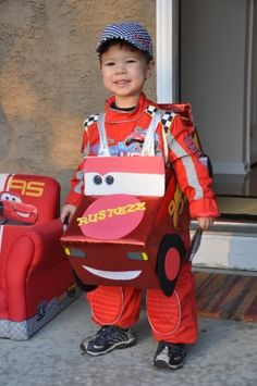 Race car costume  sc 1 st  Pinterest & DIY Lightning McQueen costume | Lightning McQueen Toys | Pinterest ...