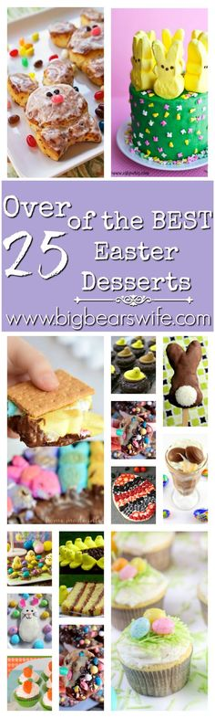 25 of the BEST Easter Desserts - such a great list!