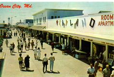 OCEAN CITY MD. 1960S. The boardwalk is not the same after a storm in 2012.