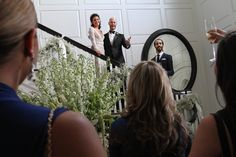 Brett Barakett and Meaghan Jarensky were married at their home in Greenwich, Conn.